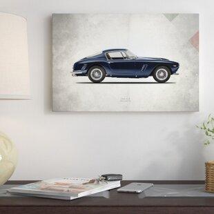 'Vintage Italia Series: 1959 Ferrari 250 GT Berlinetta' Vintage Advertisement on Canvas ByEast Urban Home