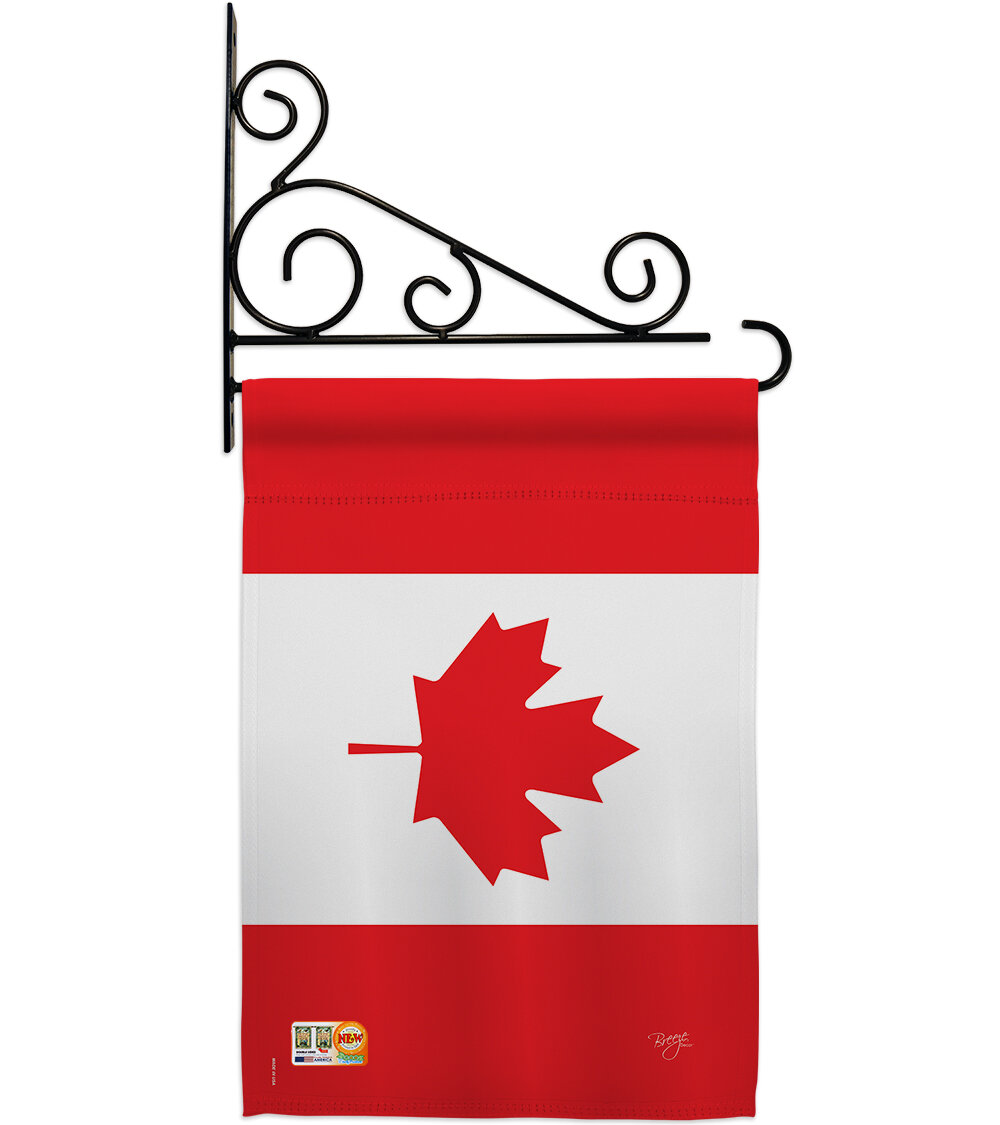 Breeze Decor Canada 2 Sided Polyester 19 X 13 In Flag Set Wayfair