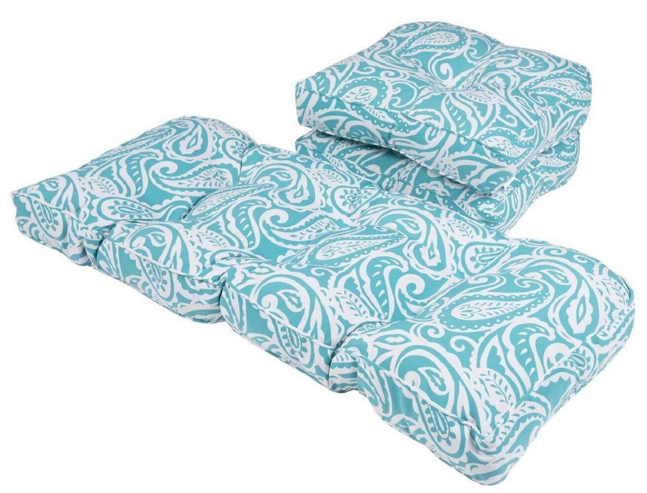 Winston Porter 3 Piece Outdoor Loveseat Sofa Cushion Set Wayfair