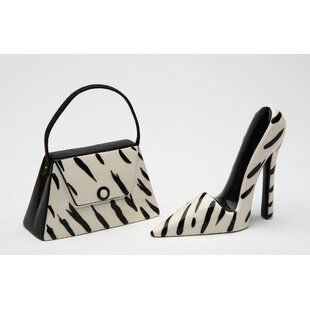 It's a Jungle Out There Purse and Heel 2 Piece Salt and Pepper Set