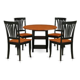 Tyshawn 5 Piece Drop Leaf Breakfast Nook Solid Wood Dining Set Charlton Home