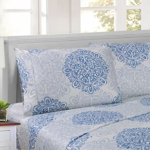 Patric 300 Thread Count Floral 100% Egyptian-Quality Cotton Sheet Set