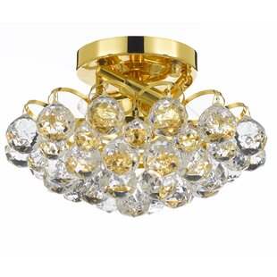 Couture 4-Light Semi Flush Mount by Rosdorf Park