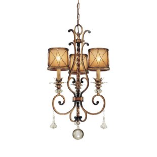 Astoria Grand Mcmillian 3-Light Shaded Chandelier