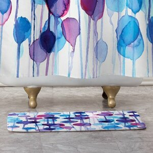 Abstract Watercolor Bath Rug