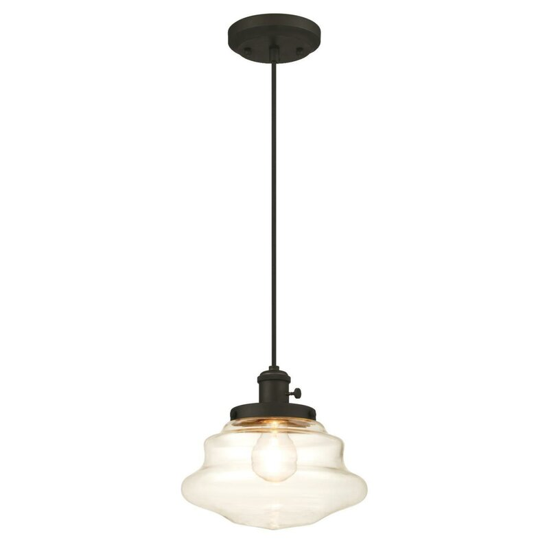 Westinghouse lighting 1 light schoolhouse pendant reviews wayfair 1 light schoolhouse pendant aloadofball Gallery
