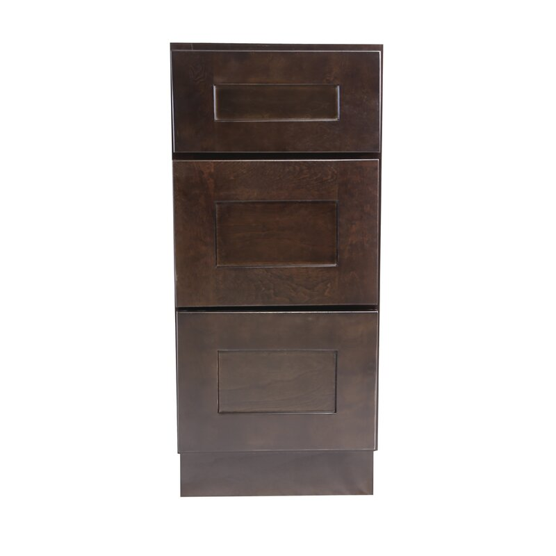 Ebern Designs Frits Fully Assembled 15x34 5x24 In Shaker Style Kitchen Base Cabinet With 3 Drawer In White Wayfair