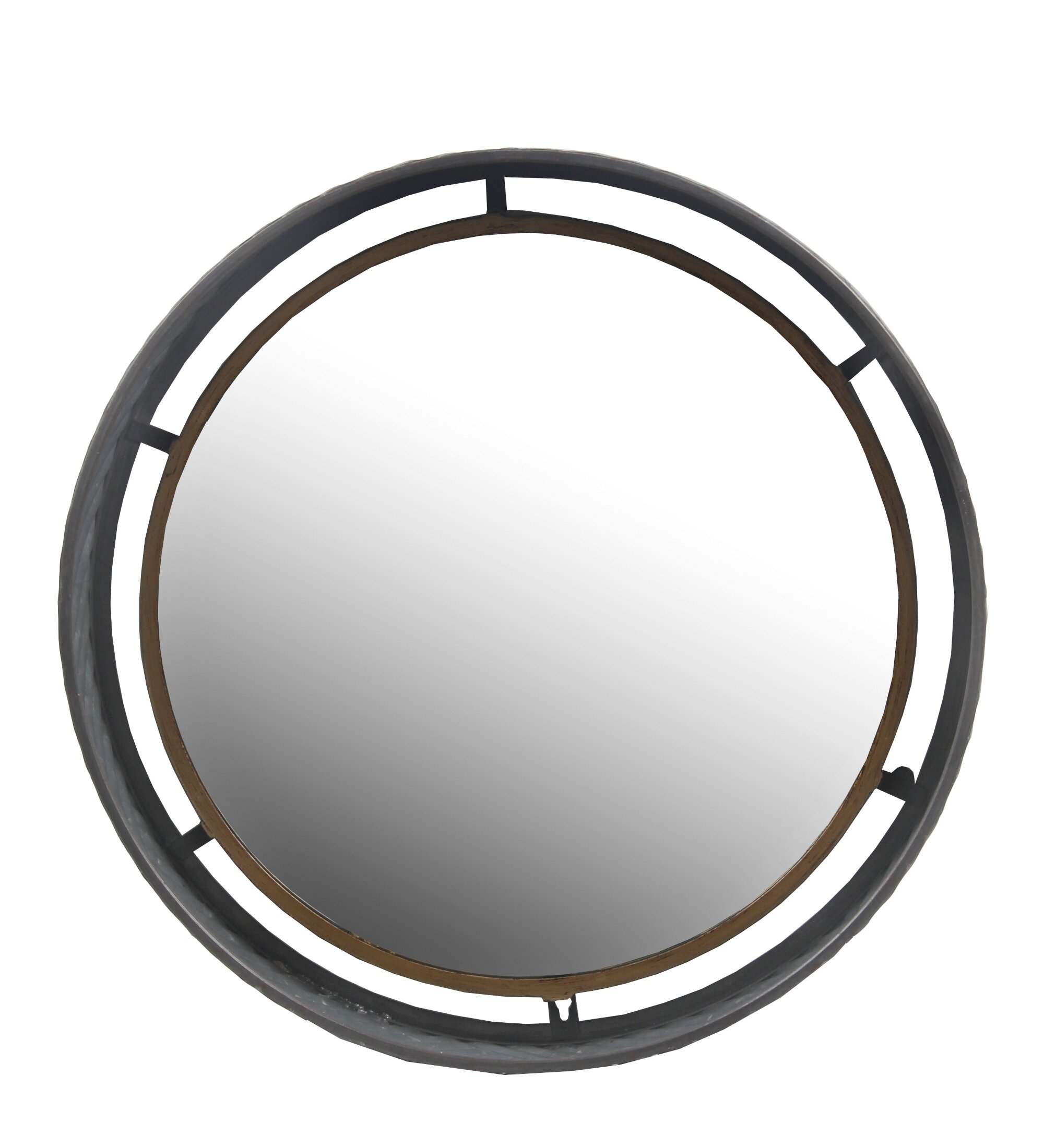 Williston Forge Chantell Metal Round Wall Accent Mirror Reviews Wayfair