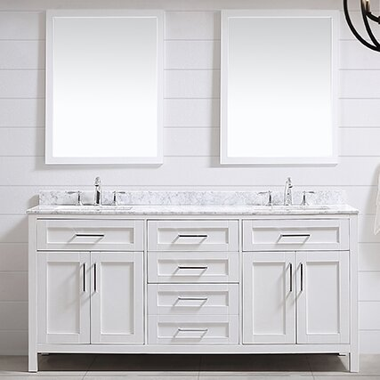 double bathroom vanity set. Tahoe 72  Double Bathroom Vanity Set With Mirror In White Ove Decors