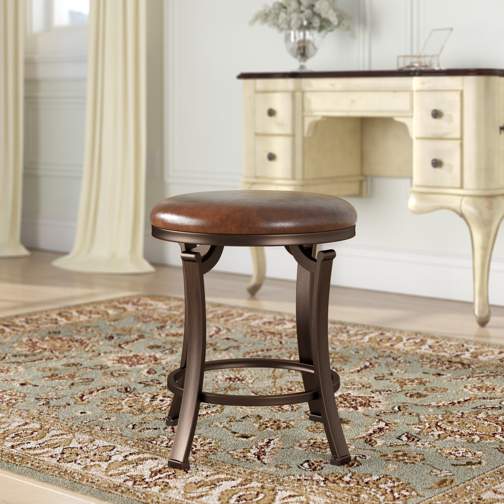 Wondrous Charlton Home Staten Backless Vanity Stool Reviews Wayfair Unemploymentrelief Wooden Chair Designs For Living Room Unemploymentrelieforg