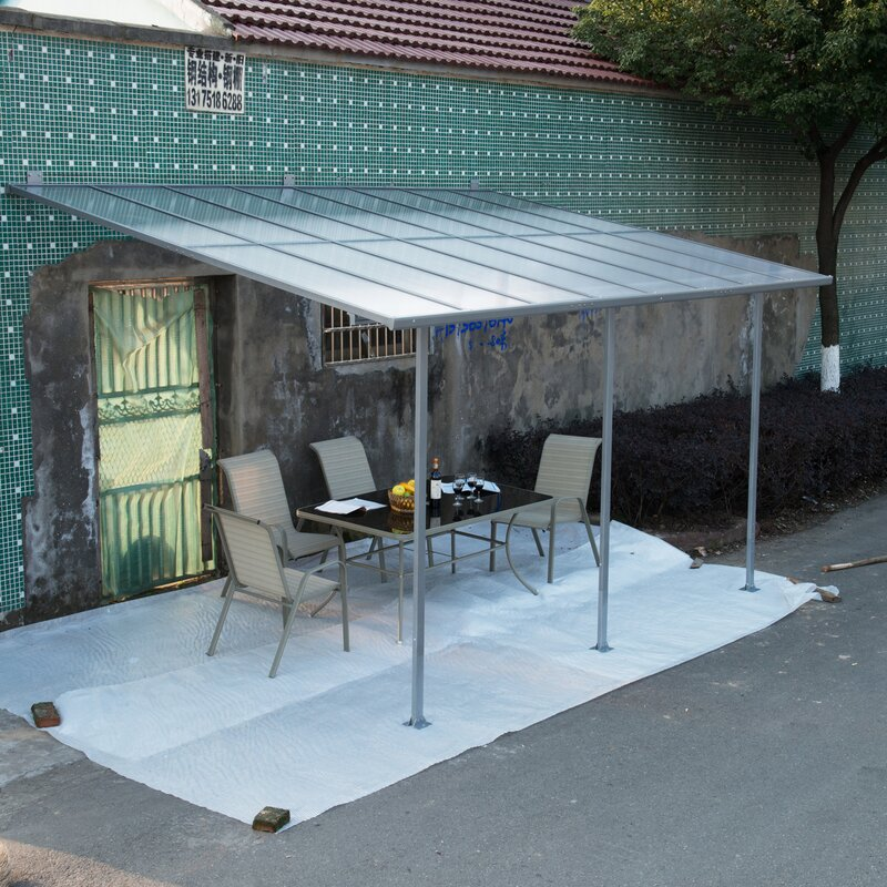 Outsunny Aluminum Framed Translucent 15ft. X 10ft. Patio Cover Awning