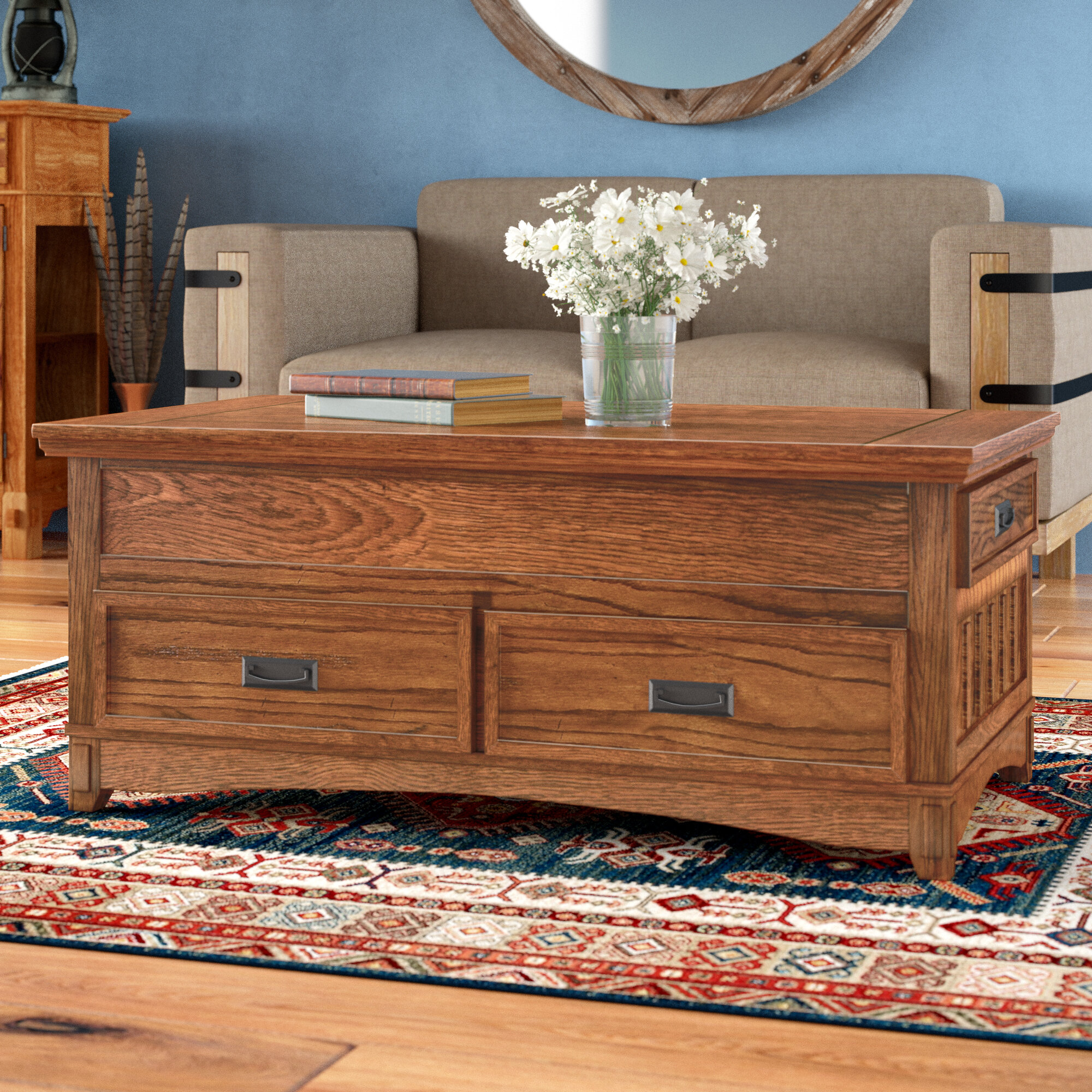 Loon Peak Barrett Trunk Coffee Table With Lift Top &