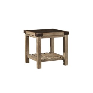 Warnell Bluestone Top End Table by Gracie Oaks