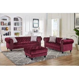 Darius 3 Piece Living Room Set by House of Hampton