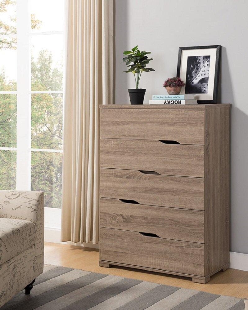 Briaroaks Modern 5 Drawer Dresser