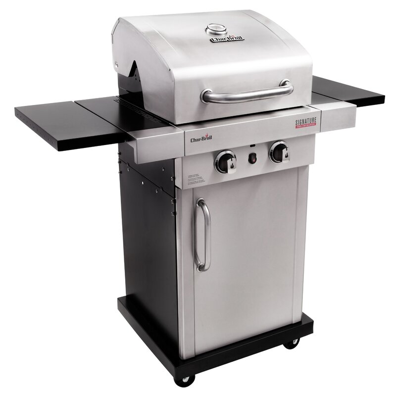 Signature Infrared 2 Burner Propane Gas Grill With Cabinet