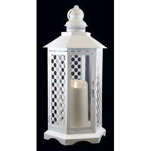 Northlight Seasonal Floral Lattice Lantern with Luminara Flameless LED Lighted Candle