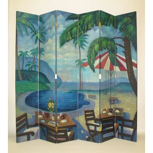 Rosecliff Heights Figueroa Island Poolside 6 Panel Room Divider