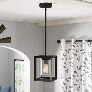 Laurel Foundry Modern Farmhouse Bouvet 1-Light Square/Rectangle Pendant