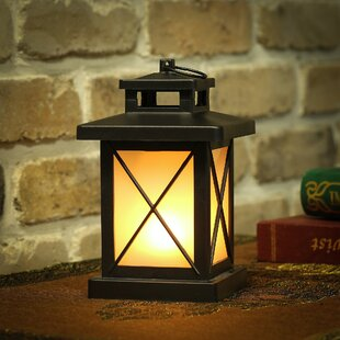 Winsome House Flaming Lights Cross Lantern