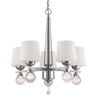Yareliia 5-Light Shaded Chandelier by Mercer41