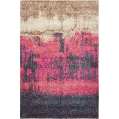 Wrought Studio Wynn Traditional Pink Area Rug Rug Size: Rectangle 4' x 6'