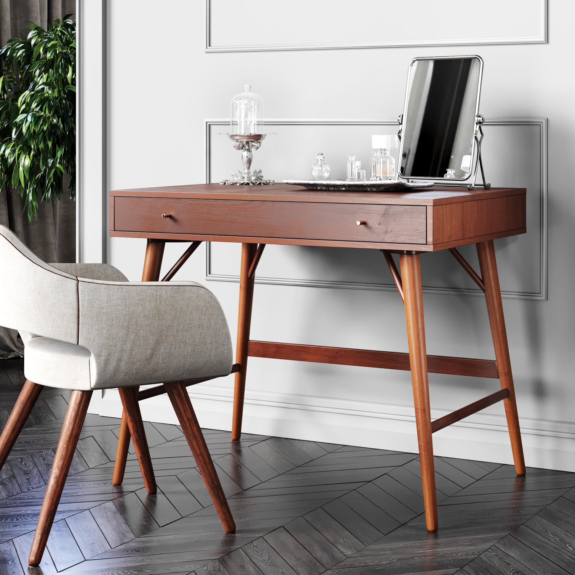 Image of: Lundquist Solid Wood Desk Reviews Allmodern