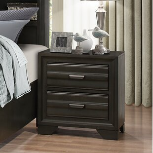 Blasco Wood 2 Drawer Nightstand by World Menagerie #2