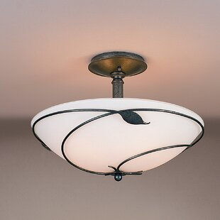 Hubbardton Forge Leaf Large 3-Light Semi Flush Mount