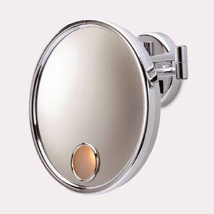 Jerdon Euro Hard Wired Wall Mount Lighted Mirror