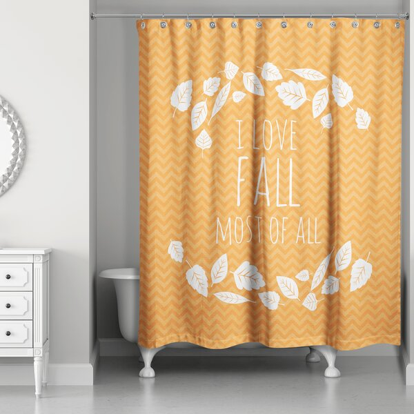 The Holiday Aisle Irie Love Fall Most Of All Single Shower Curtain Wayfair