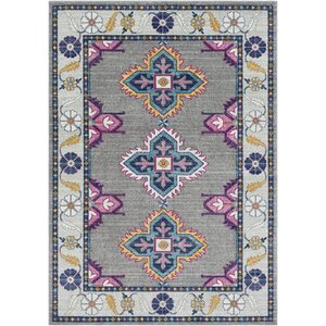 Downs Persian Inspired Gray/Blue Area Rug