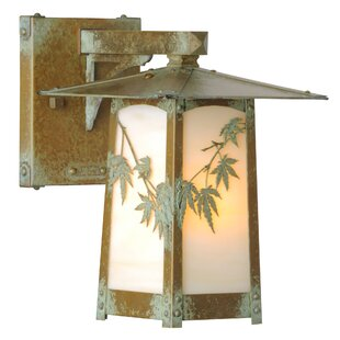 Best Reviews Dever Japanese MapleOutdoor Wall Lantern By World Menagerie