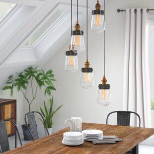 Poplar 5-Light Cascade Pendant by Trent Austin Design