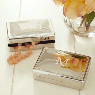 Gibbs Monogrammed Rectangular Jewelry Box By Darby Home Co
