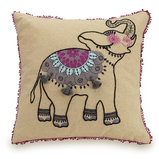 Dream Elephant Linen Throw Pillow