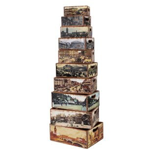 Cherita Old London Wood 10 Piece Box Set By Williston Forge