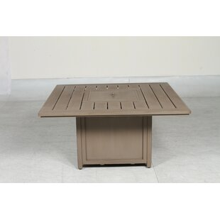 Teva Furniture Aruba Aluminum Propane Fire Pit Table