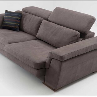 Mardini 3 Seater Grey Suede By Orren Ellis