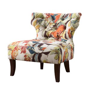 Glen Hourglass Tufted Wing back Chair
