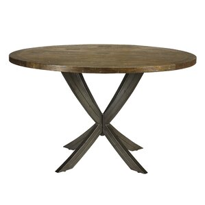 Castello X Leg Inlay Top Round Dining Table by French Heritage