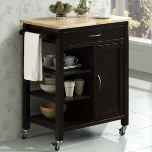 Newfane Theo Kitchen Cart by Three Posts Sale