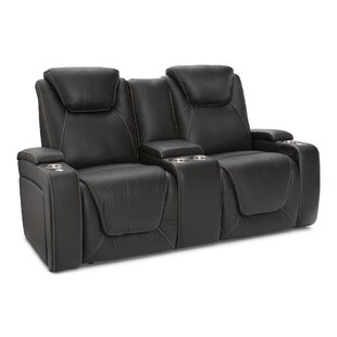 Latitude Run Leather Home Theater Loveseat