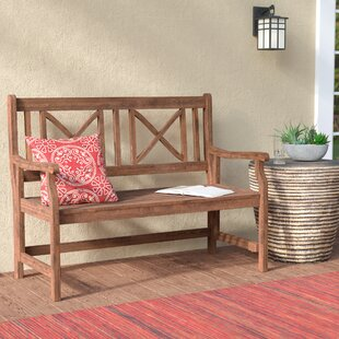 Conner Folding Acacia Wood Garden Bench by World Menagerie