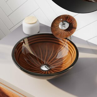 Where buy  Hand Painted Glass Circular Vessel Bathroom Sink ByMR Direct