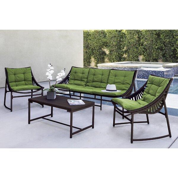 Wrought Studio Crick Indoor/Outdoor Seating Group with Sunbrella ...