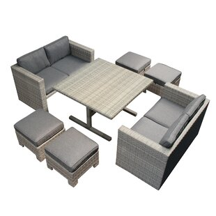 Gholson 5 Piece  Lounge Dining With Cushions by Highland Dunes