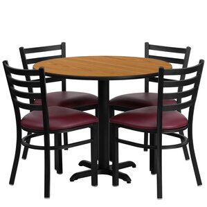 Jinnie 5 Piece Dining Set by Red Barrel S..