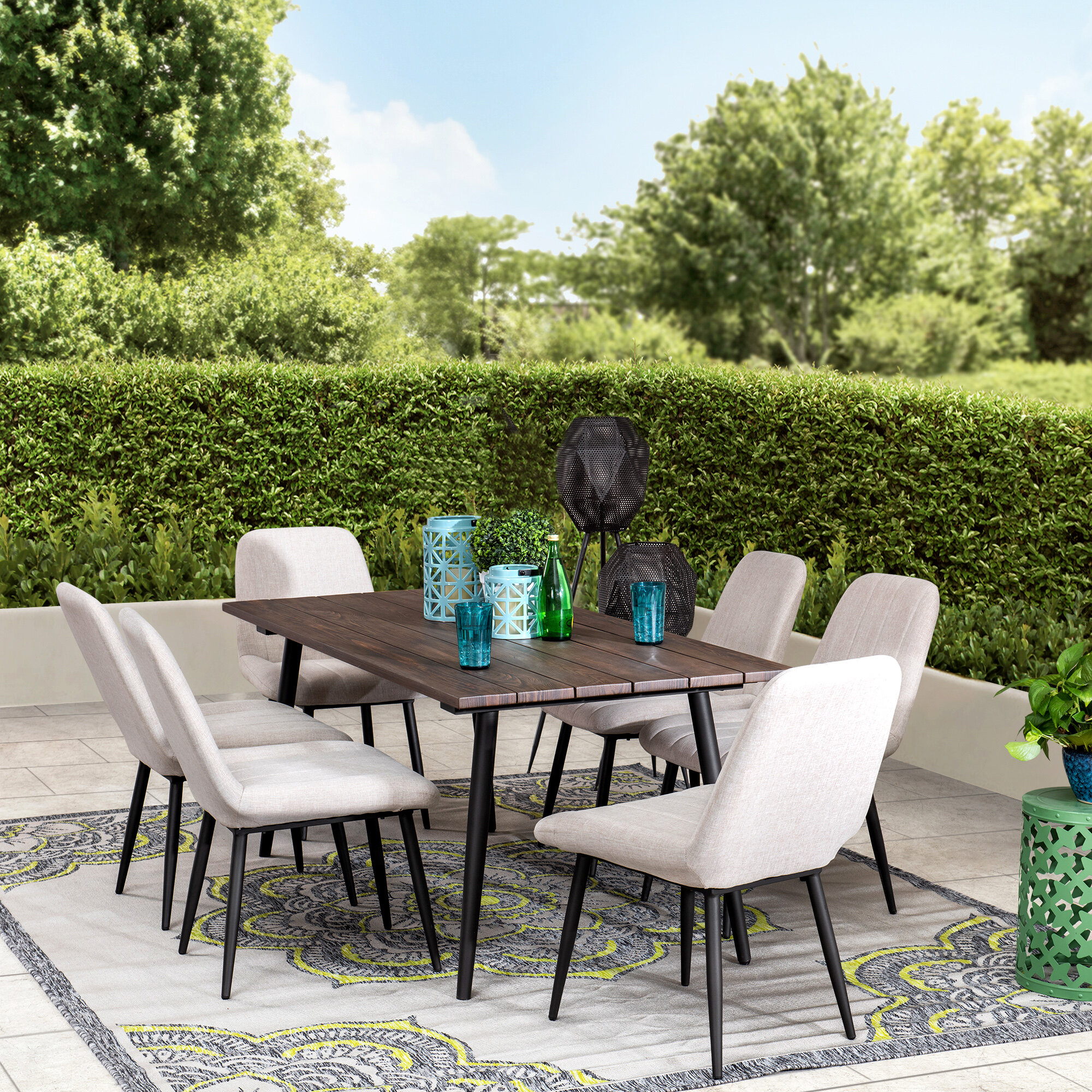 Solid Wood Outdoor Dining Sets Joss Main