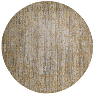 Menton Gray/Gold Area Rug by Lark Manor